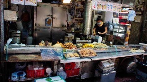 Puestos comida callejera en Hong kong