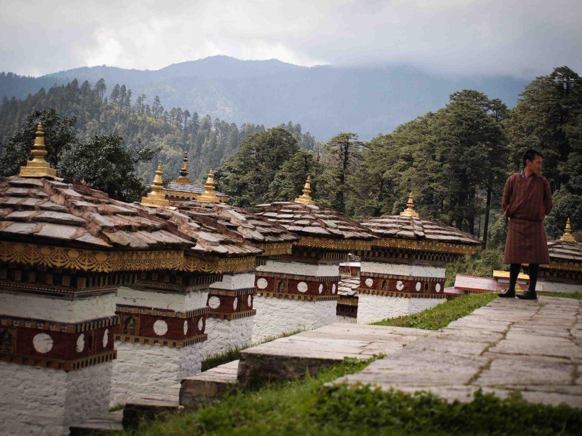 que-ver-en-thimphu-capital-butan-Druk-Wangyal-Khang-Zhang-Chortens