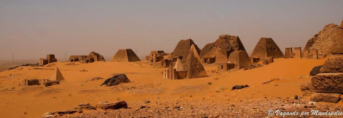 Que ver en Meroe. Las pirámides del Reino deKush